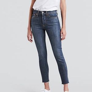 Levi's wedgie skinny high rise button fly jeans